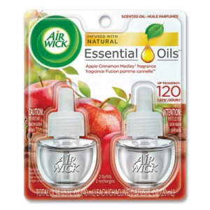 Air Wick Scented Oil Refill, Warming - Apple Cinnamon Medley, 0.67 oz, Orange, 2/Pack RAC80420PK 62338-80420
