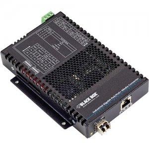 Black Box PoE+ Industrial Gigabit Ethernet Media Converter, SFP LGC5310A