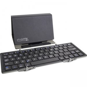 Plugable Ultra-Portable Bluetooth Folding Keyboard with Protective Case / Tablet Stand BT-KEY3