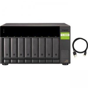 QNAP USB 3.2 Gen 2 Type-C High-capacity JBOD Storage Enclosure TL-D800C-US TL-D800C