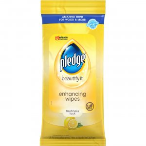 Pledge Lemon Scent Enhancing Wipes 319250CT SJN319250CT
