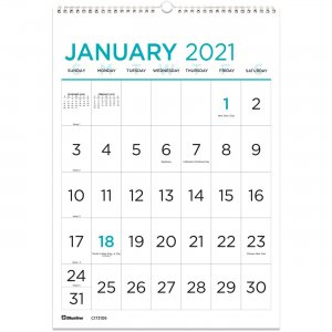 Rediform Large Print Wall Calendar C173106 REDC173106