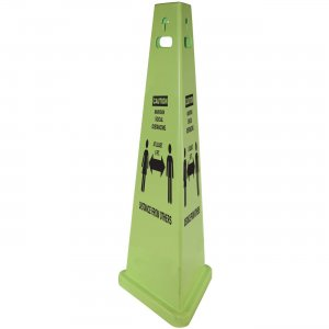 TriVu Social Distancing 3 Sided Safety Cone 9140SD IMP9140SD