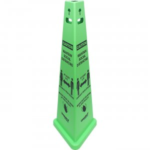 TriVu Social Distancing 3 Sided Safety Cone 9140SMKIT IMP9140SMKIT