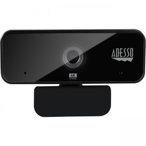 Adesso 4K Ultra HD USB Webcam with Built-in Dual Microphone & Privacy Shutter Cover CYBERTRACK H6