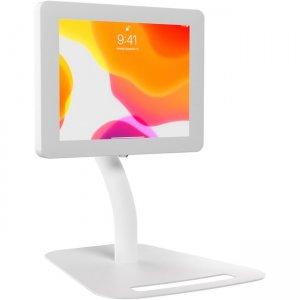 CTA Digital Premium Height Adjustable Floor-To-Desk Security Kiosk (White) PAD-PARAFDW