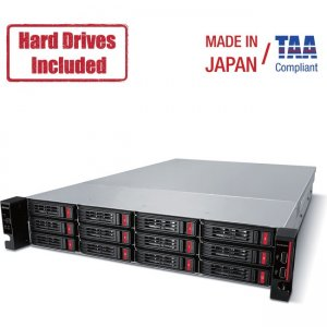 Buffalo TeraStation Rackmount 64 TB NAS Hard Drives Included (4 X 16TB, 12 Bay) TS51210RH6404 51210RH