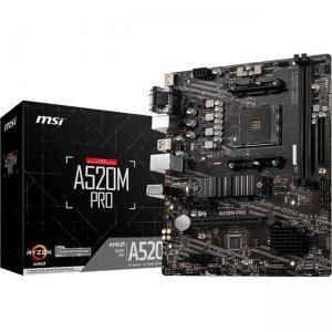 MSI Desktop Motherboard A520MPRO A520M PRO