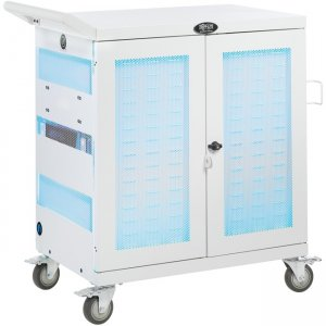 Tripp Lite Hospital-Grade 32-Device UV Charging Cart, White CSC32USBWHG