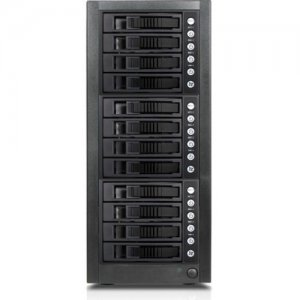 RAIDage 12-bay SAS/SATA 12Gb/s SFF-8644 Hotswap JBOD Enclosure JAGE9BT12MSBK