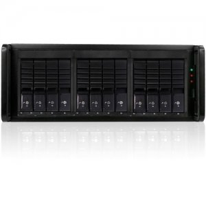 RAIDage 4U 12-bay SAS/SATA 12Gb/s SFF-8644 JBOD Trayless Hotswap Chassis JAGE412HDBK-DE-SEA