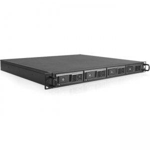 "RAIDage 1U 4-bay 3.5"" SAS/SATA 12Gb/s SFF8644 JBOD Trayless Hotswap Rackmount Chassis JAGEM140-HD"