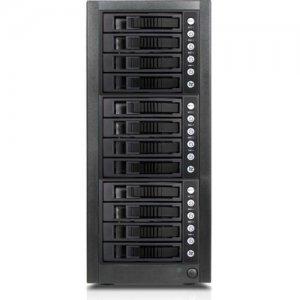 RAIDage 12-bay SAS/SATA 12Gb/s SFF-8644 Hotswap JBOD Enclosure JAGE9BT12HDBK