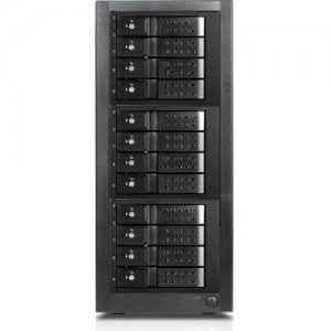 RAIDage 12-bay SAS/SATA 12Gb/s SFF-8644 Trayless Hotswap JBOD Enclosure JAGE9BT12MSBK-DE