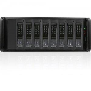 RAIDage 4U 8-bay SAS/SATA 12Gb/s SFF-8644 JBOD Trayless Hotswap Chassis JAGE480HDBK-DE
