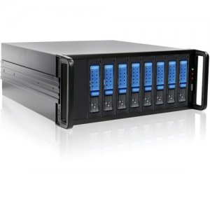 RAIDage 4U 8-bay SAS/SATA 12Gb/s SFF-8644 JBOD Trayless Hotswap Chassis JAGE480HDBL-DE
