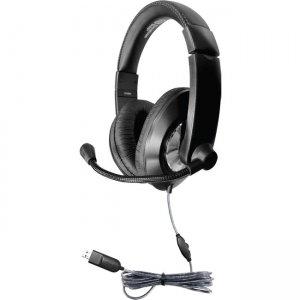 Hamilton Buhl Smart-Trek Deluxe Stereo Headset with In-Line Volume ST2BKU