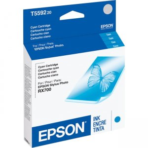 Epson Black and Color Ink Cartridge For Stylus Photo RX700 Printer T559220