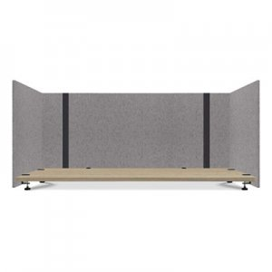 Lumeah Adjustable Desk Screen with Returns, 48 to 78 x 29 x 26.5, Polyester, Gray GN1LUAD48301G LUAD48301G