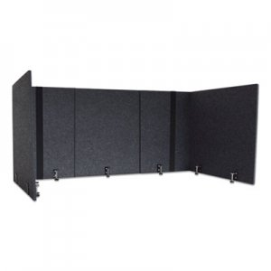 Lumeah Adjustable Desk Screen with Returns, 48 to 78 x 29 x 26.5, Polyester, Ash GN1LUAD48301A LUAD48301A