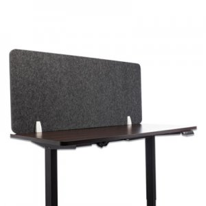 Lumeah Desk Screen Cubicle Panel and Office Partition Privacy Screen, 54.5 x 1 x 23.5, Polyester, Ash GN1LUDS55241A