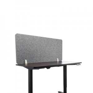 Lumeah Desk Screen Cubicle Panel and Office Partition Privacy Screen, 54.5 x 1 x 23.5, Polyester, Gray GN1LUDS55241G