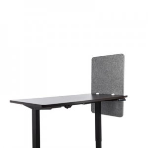 Lumeah Desk Modesty Adjustable Height Desk Screen Cubicle Divider and Privacy Partition, 23.5 x 1 x 36, Polyester, Gray