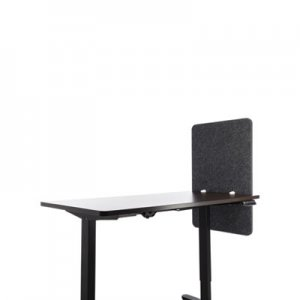 Lumeah Desk Modesty Adjustable Height Desk Screen Cubicle Divider and Privacy Partition, 23.5 x 1 x 36, Polyester, Ash
