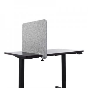 Lumeah Desk Divider Privacy Panel Sound Reducing Office Partition for Desk Cubical, 23.5 x 1 x 22, Polyester, Gray