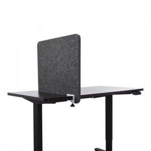 Lumeah Desk Divider Privacy Panel Sound Reducing Office Partition for Desk Cubical, 23.5 x 1 x 22, Polyester, Ash