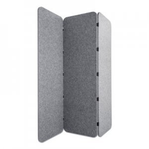 Lumeah Concertina Foldable Sound Reducing Room Divider Privacy Screen, 70 x 1 x 70, Polyester, Gray GN1LUCO72701G LUCO72701G