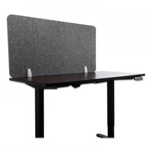 Lumeah Desk Screen Cubicle Panel and Office Partition Privacy Screen, 47 x 1 x 23.5, Polyester, Gray GN1LUDS48241G LUDS48241G