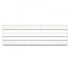 Schoolgirl Style Nameplates, 9 1/2 w x 2.88 h, White, 36/Pack CDP122038 122038