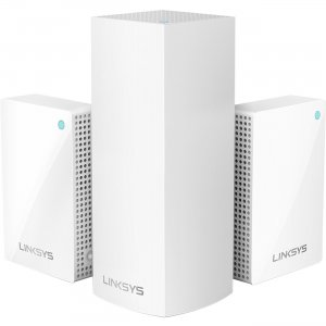 Linksys Velop Intelligent Mesh WiFi System, Tri-Band, 3-Pack with Plug-Ins (AC4800) WHW0203P LNKWHW0203P