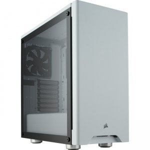 Corsair Tempered Glass Mid-Tower Gaming Case - White CC-9011182-WW 275R Airflow