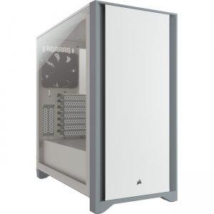 Corsair Tempered Glass Mid-Tower ATX Case - White CC-9011199-WW 4000D