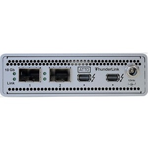 ATTO 20Gb/s Thunderbolt 2 (2-port) to 10GbE (2-Port) Device ( includes SFPs ) TLNS-2102-D01