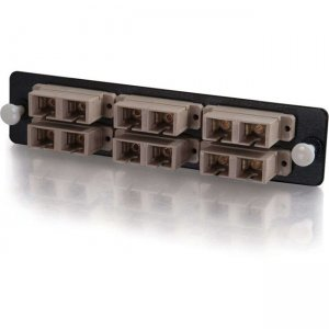 Quiktron 12-Strand, SC Duplex, PB Insert, Multimode, Beige Adapter Panel (TAA Compliant) 31104