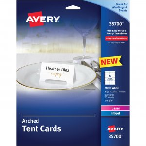 Avery Arched Die-Cut Tent Cards 35700 AVE35700