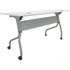 Lorell White Laminate Flip Top Training Table 60744 LLR60744
