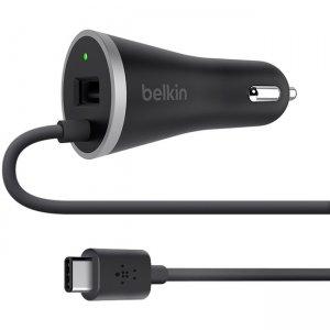 Belkin USB-A Port/USB-C Car Charger F7U006BT04BK BLKF7U006BT04BK