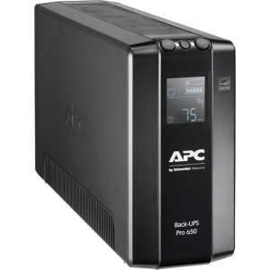 APC by Schneider Electric Back-UPS Pro 650VA Tower UPS BR650MI