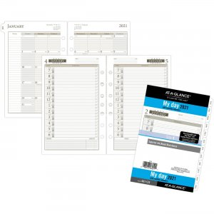 Day Runner 1PPD Dated Daily Planner Refills 481125 AAG481125