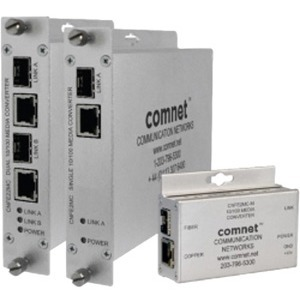 ComNet 10/100 Mbps Ethernet Electrical to Optical Media Converter CNFE2MCAC/M