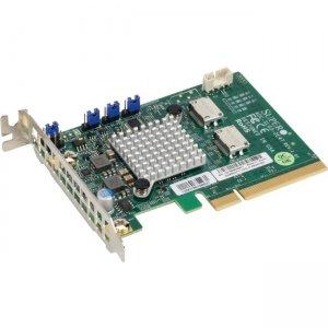 Supermicro Low Profile Dual-Port NVMe Internal Host Bus Adapter AOC-SLG3-2E4T-O AOC-SLG3-2E4T