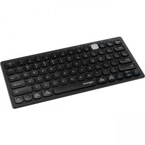 Kensington Multi-Device Dual Wireless Compact Keyboard - Black/Silver K75502US