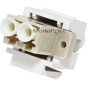 Monoprice Keystone Jack - Modular LC (White) 2875