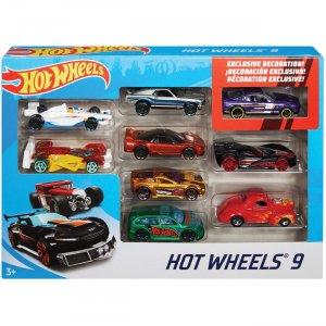 Hot Wheels 9-Car Gift Pack X6999 MTTX6999