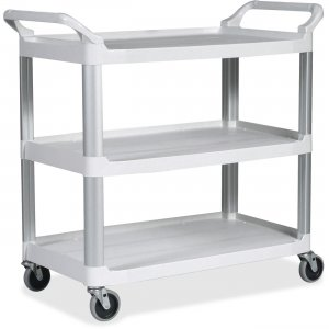Rubbermaid Commercial Open Sided Utility Cart 409100OWH RCP409100OWH