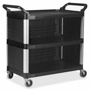 Rubbermaid Commercial Enclosed End Panels Utility Cart 409300BK RCP409300BK